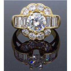 14KT Yellow Gold 2.20ctw Diamond Ring