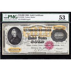 1900 $10,000 Gold Certificate PMG 53