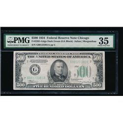 1934 $500 Chicago Federal Reserve Note PMG 35