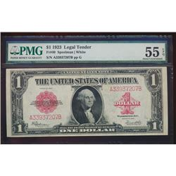 1923 $1 Legal Tender Note PMG 55EPQ