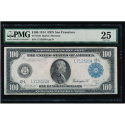 1914 $100 San Francisco Federal Reserve Note PMG 25