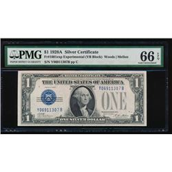 1928A $1 Experimental Silver Certificate PMG 66EPQ