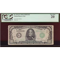 1934 $1000 Chicago Federal Reserve Note PCGS 20