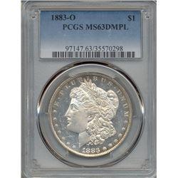 1883-O $1 Morgan Silver Dollar Coin PCGS MS63DMPL