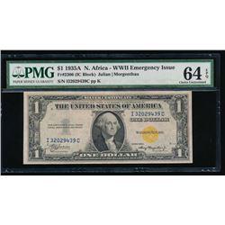 1935A $1 North Africa Silver Certificate PMG 64EPQ