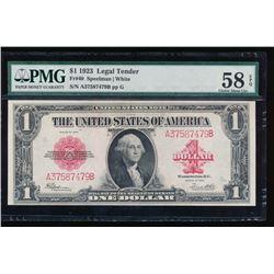 1923 $1 Legal Tender Note PMG 58EPQ
