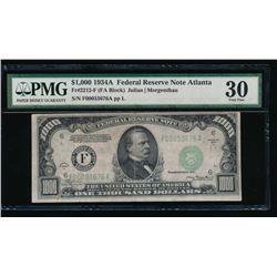 1934A $1000 Atlanta Federal Reserve Note PMG 30