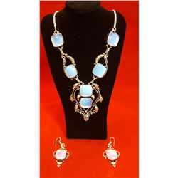 330ctw Opalite Necklace And Earring Set
