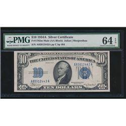 1934A $10 Silver Certificate PMG 64EPQ