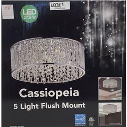 CASSIOPEIA 5-LIGHT FLUSH MOUNT