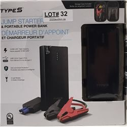 TYPES JUMP STARTER AND PORTABLE POWER BANK