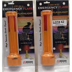 EMERGENCY FLARE AND FLASHLIGHT