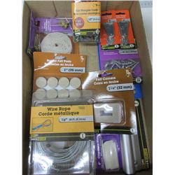 Bundle of New Hardware for around the house/felt pads / wire cable / bungee's