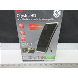 GE Pro Crystal HD Amplified Antenna / full HD 1080p 4K ultra HD / get free