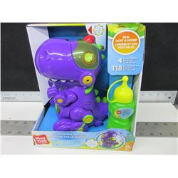 Walking Bubble Dinosaur with light and sound / with 4oz bubble solution