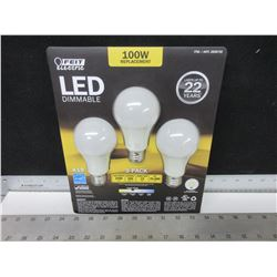 LED Dimmable Lightbulbs / 100watt replacement / last 22 years save big