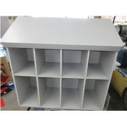 Desk with 8 Cubby Holes slanted top  52 long x 21 deep x 37 high front 48
