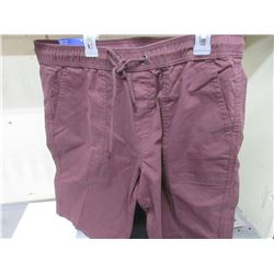 New Men's Joggers Sport Shorts size 34 waist / Burgundy