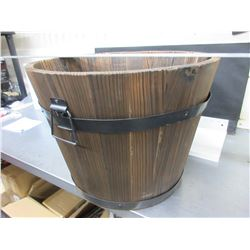 Wood Plant Pot 14 high x 17 1/2 across at top