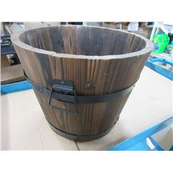 Wood Plant Pot 12 high x  14 1/2across at top