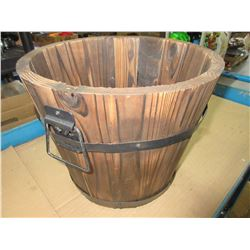 Wood Plant Pot 10 high x 12 across at top