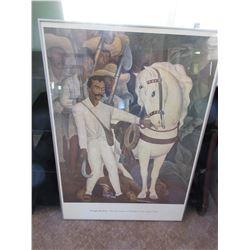 Diego Rivera framed print / 27 x 39
