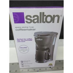 New Salton 1 cup Coffee Maker / comes with Ceramic mug & permanent filter
