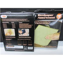2 Cases of Sandpaper / 40 sheets per case / Assorted grits / 60-100-150-240