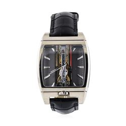 Corum Mens Skeleton Case Golden Bridge Automatique Wristwatch