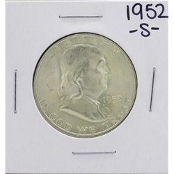 1952-S Franklin Half Dollar Coin
