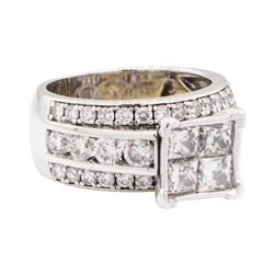 2.37 ctw Diamond Ring - 14KT White Gold