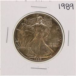 1989 $1 American Silver Eagle Coin Nice Toning