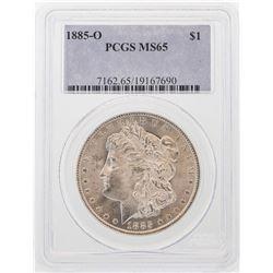 1885-O $1 Morgan Silver Dollar Coin PCGS MS65