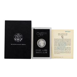 1885-CC $1 Morgan Silver Dollar Coin Uncirculated GSA w/ Box & COA