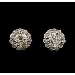 1.41 ctw Diamond Earrings - 14KT White Gold