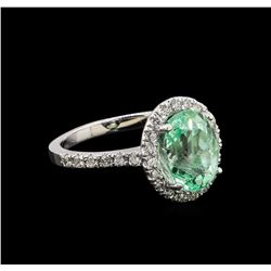 2.75 ctw Emerald and Diamond Ring - 14KT White Gold
