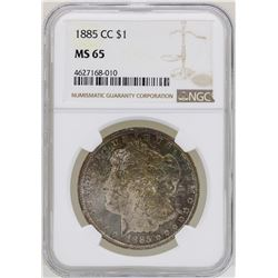1885-CC $1 Morgan Silver Dollar Coin NGC MS65