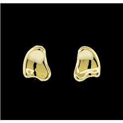 Asymmetric Nugget Post Earrings - Gold Plated
