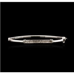 14KT White Gold 0.68 ctw Diamond Bangle Bracelet