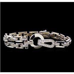 1.21 ctw Diamond Bracelet - 14KT White Gold