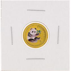 2000  1/10 oz China Panda Gold Coin
