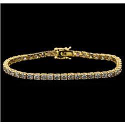 14KT Yellow Gold 5.01 ctw Diamond Tennis Bracelet