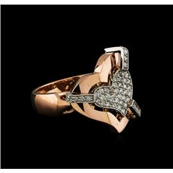 0.40 ctw Diamond Ring - 14KT Rose and White