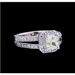 1.99 ctw Fancy Light Yellow Diamond Ring - 14KT White Gold