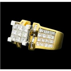 2.10 ctw Diamond Ring - 14KT Yellow And White Gold