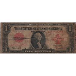 1923 $1 Red Seal Legal Tender United States Large Note