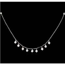 0.52 ctw Diamond Necklace - 14KT White Gold