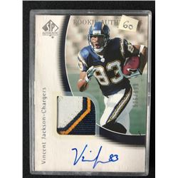 2005 SP Authentic #234 Vincent Jackson San Diego Chargers Auto RC Football Card