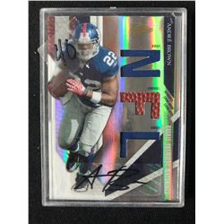 2009 Playoff Absolute Memorabilia #232 Andre Brown New York Giants Auto Card (223/249)