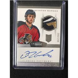 2013 Panini Dominion #160 Quinton Howden Florida Panthers Auto Rookie Hockey Card (296/299)